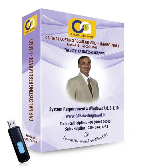 CA Final Costing Regular (VOL - I Marginal)-Old Syllabus