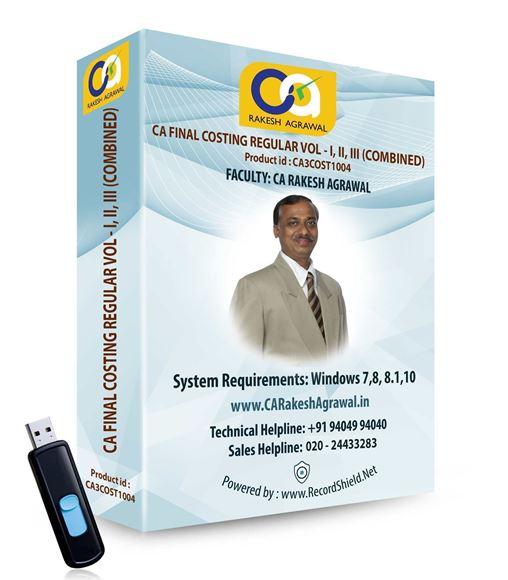 CA Final Costing Regular (VOL - I, VOL - II, VOL - III)
